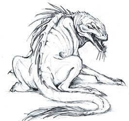Creature sketch n.1 by EllisonPav