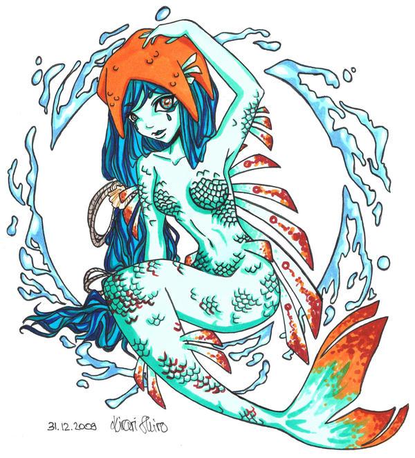 Flame Art #7: Mermaid by SweetSweetCherryPie