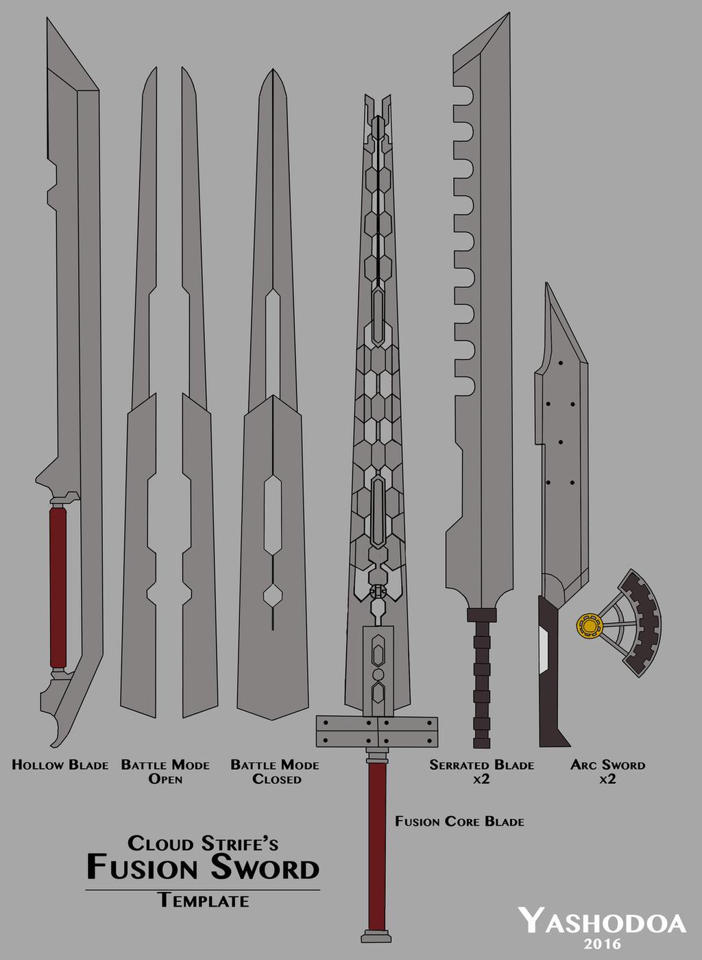 Fusion Sword Template By Yashodoa On Deviantart
