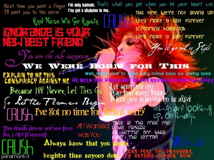 Paramore Lyrics by rosejack617 on DeviantArt Paramore Lyrics