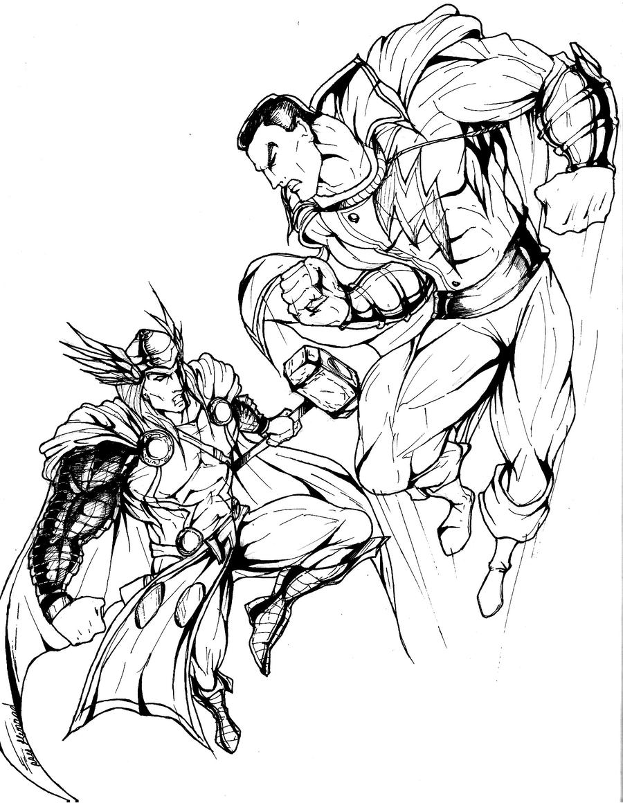 Comic book characters coloring pages