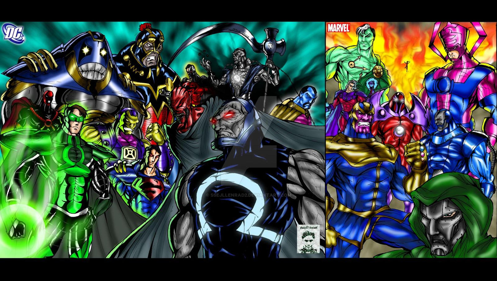 Villains DC And Marvel By Ssejllenrad2