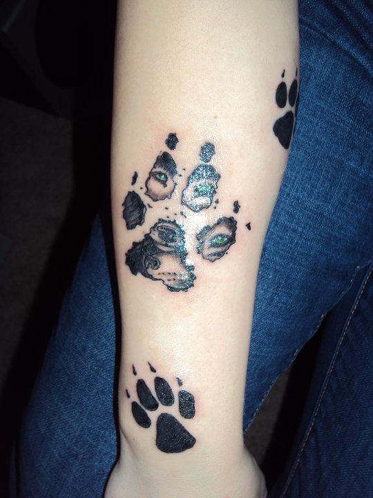 Paw Print Tattoo On Bottom Of Foot: .::Wolf Paw Print Tattoo::. By Restlessdreamer921 On