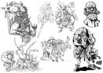 The Spider King character studies