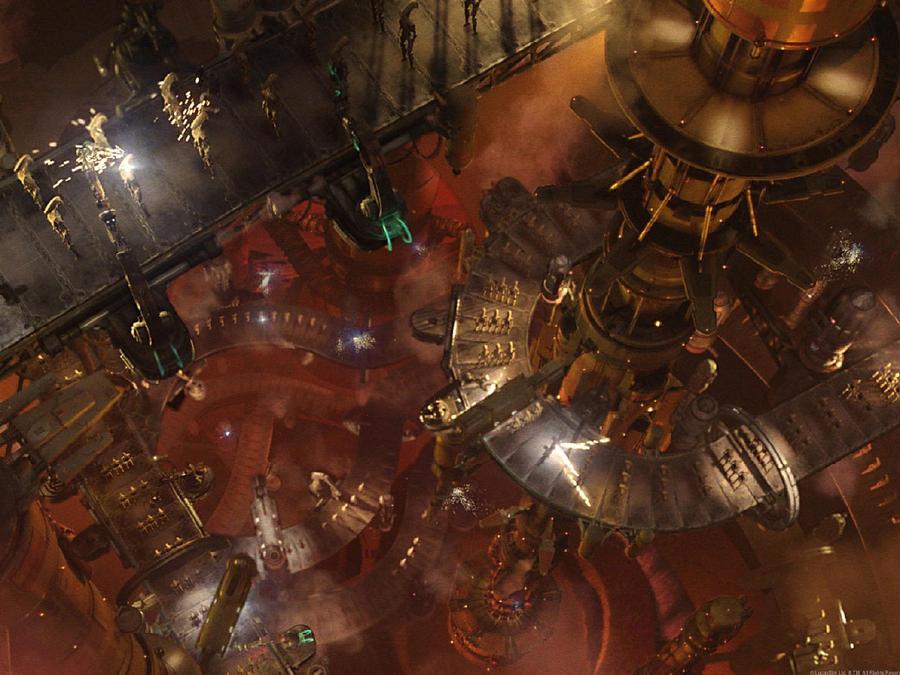 Battle droid factory on Geonosis by Kamilekg1116