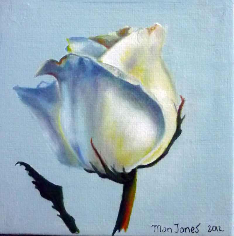 Blue rose oil painting by monjonesart on deviantart for How to paint a rose watercolor