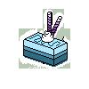 F2U Tiny Blue Cake by VixessRin