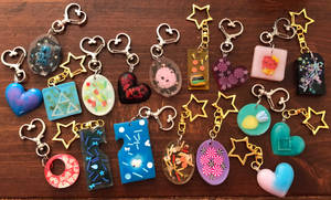 Assorted Resin Keychains