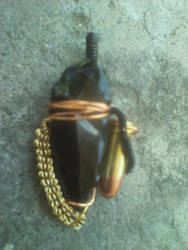 Arrowhead and Bullet Wirewrap Pendant by MamaLife