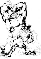 Batman Hulk Inks