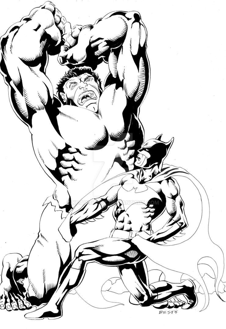 Batman Hulk Inks by kdavidbest