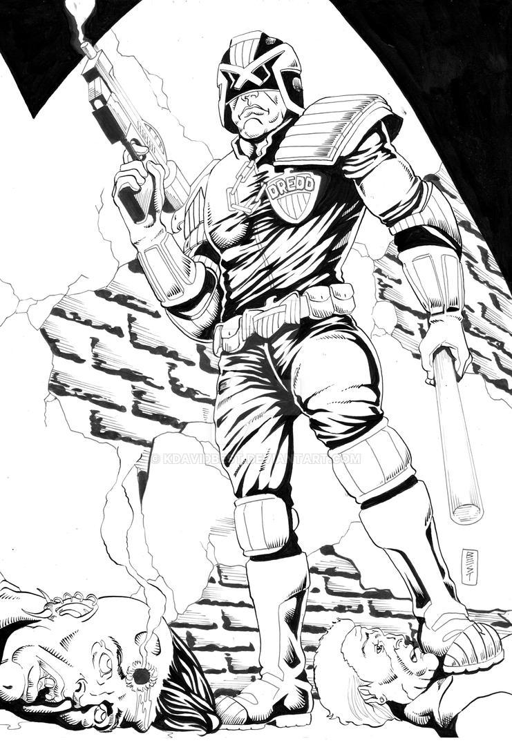 Judge Dredd Inks by kdavidbest