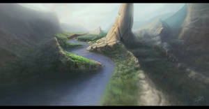 Wild jungle canyons by An9reyART