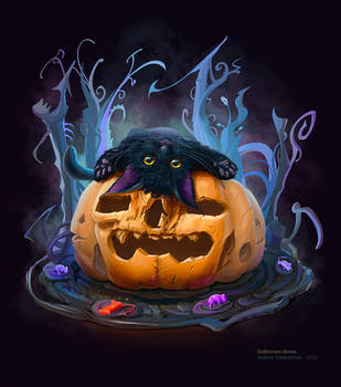 Halloween theme (cat 2) 26 10 2016 by An9reyART