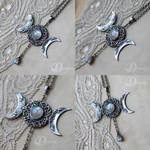 Triple Goddess with moonstone