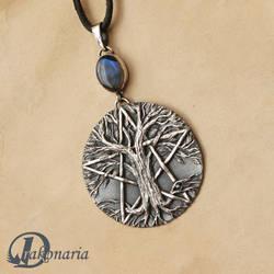Tree of Life pentacle by drakonaria
