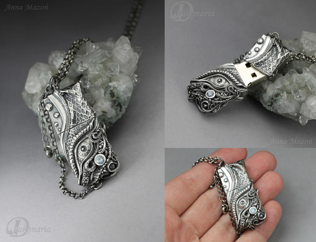 Ran - silver pendrive by drakonaria