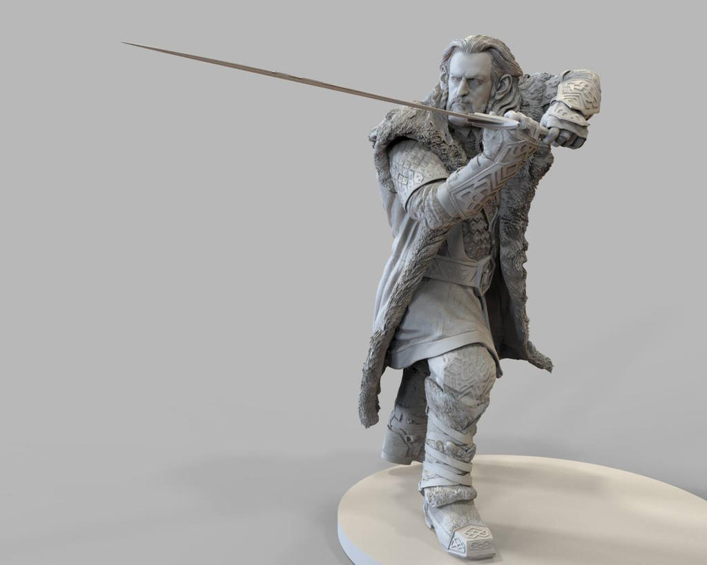 Thorin zbrush sculpture for 3d printing by for 3d sculpture artists