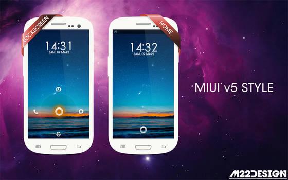 MIUI V5 style