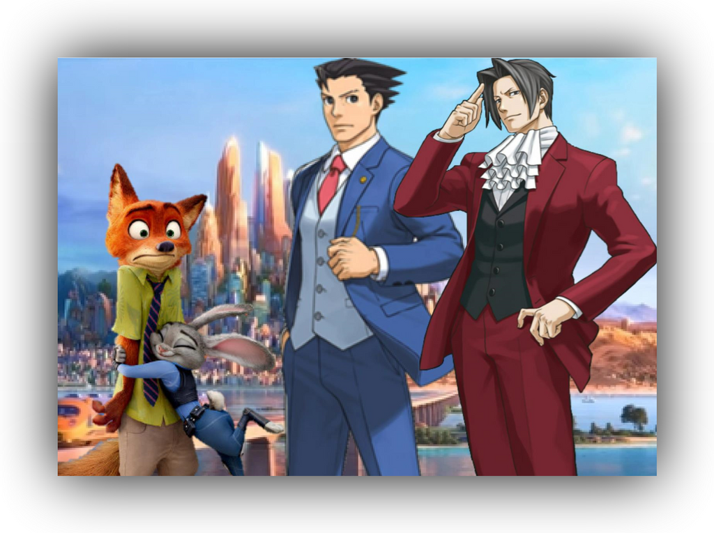 phoenix wright ace attorney zootopia defense by tom117z
