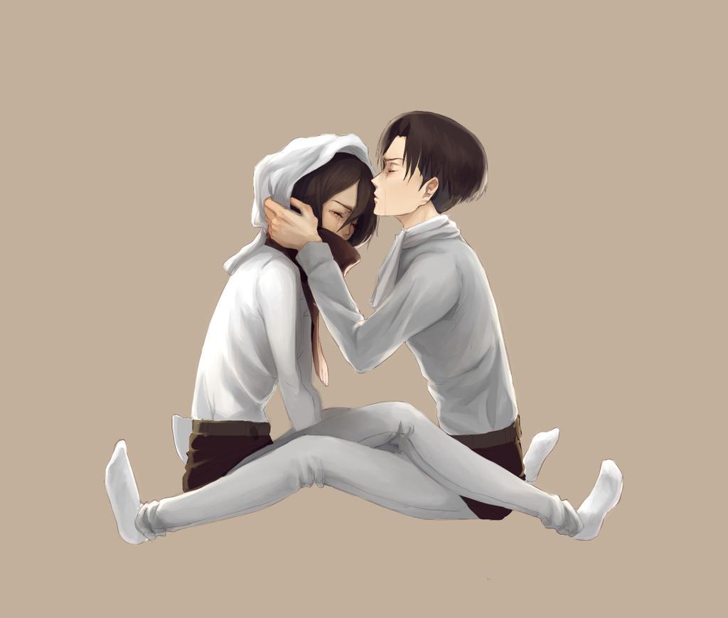 levi and mikasa by hachiyuki on deviantart