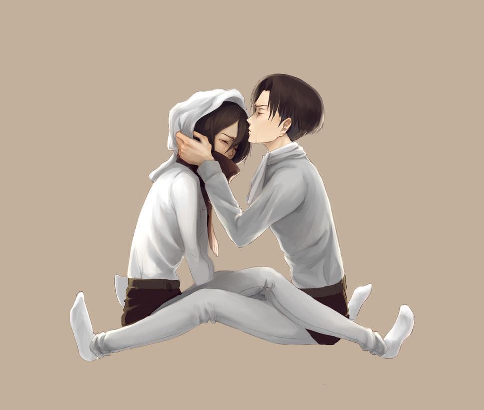 Levi and Mikasa by hachiyuki