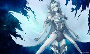 Blue Eyes White Dragon by hachiyuki