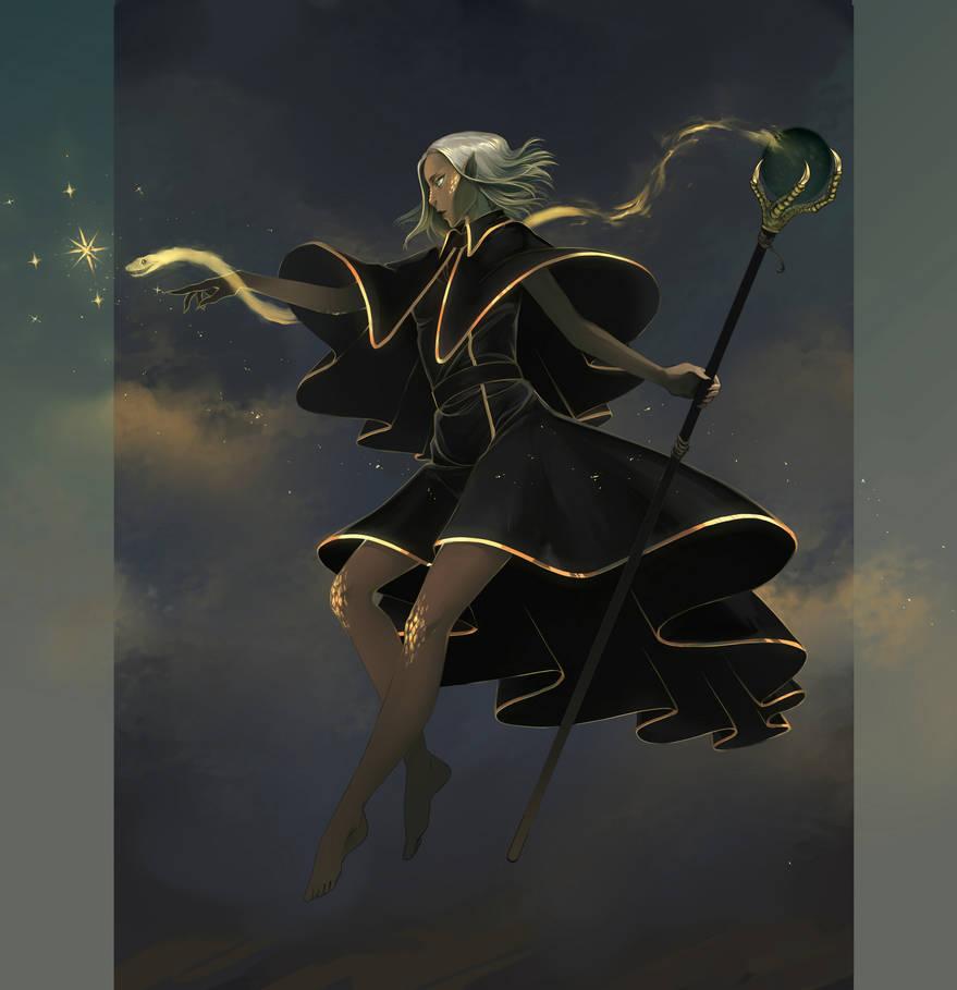 Yuan-ti Warlock Cara by hachiyuki