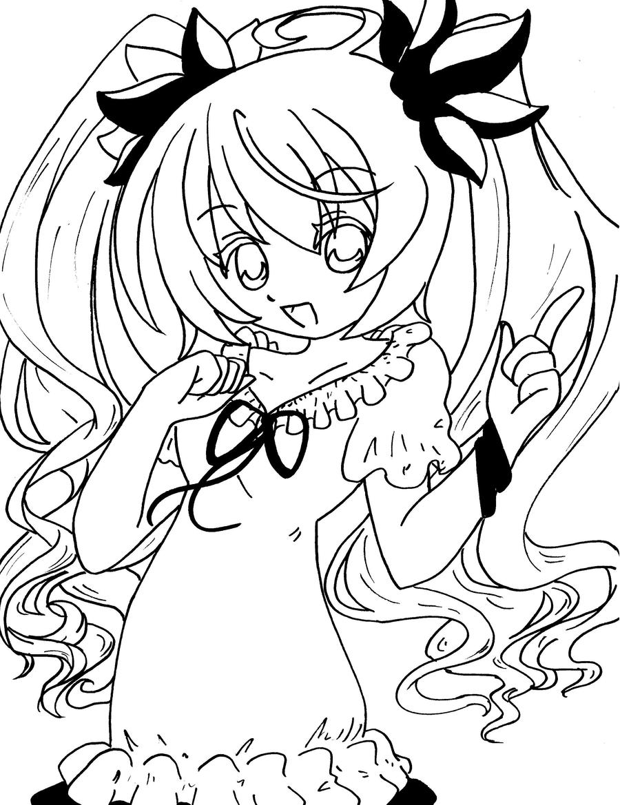 Vocaloid-World Is Mine Lineart by Yachiru-RinRin on DeviantArt