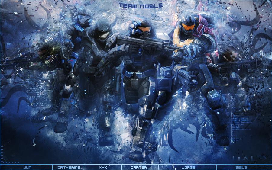 Halo Reach - Team Noble by Gekko3309