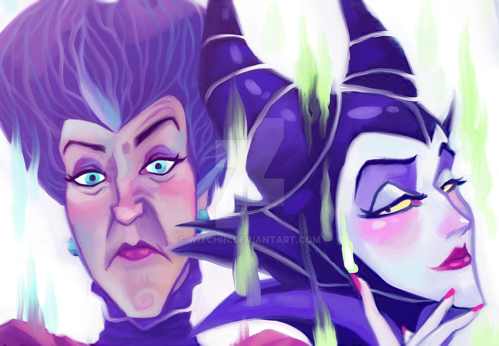 Maleficent and Lady Tremaine by paje-chan
