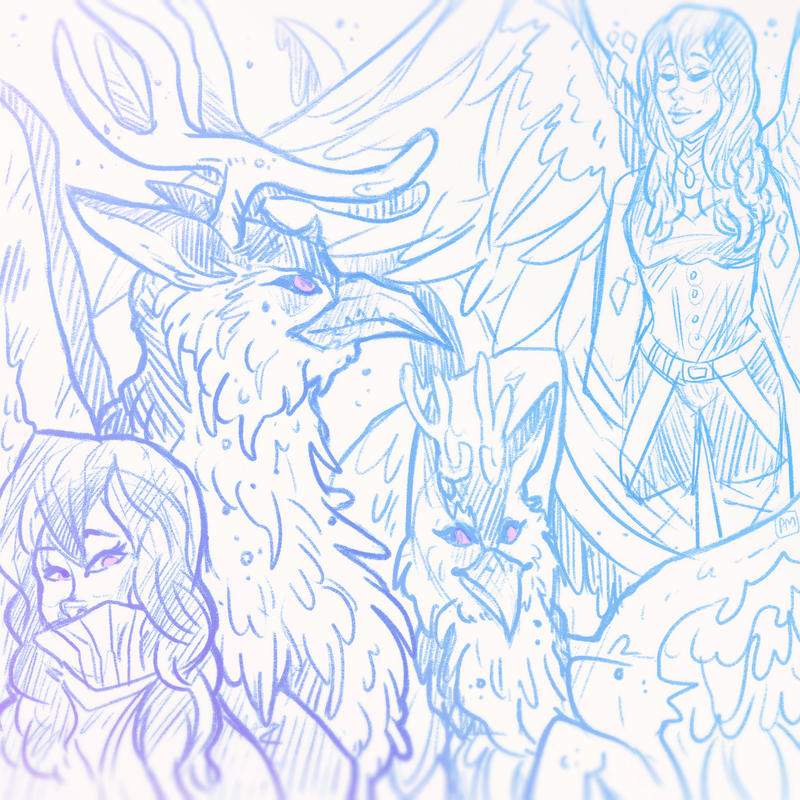 Sketch Sheet for Dovaqueen-Solar by Witchin
