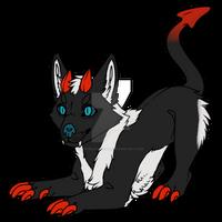 Chibi Demon Doggo Design For A Friend