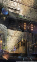 Queen's Library Station,PM 0100 by ra-lilium