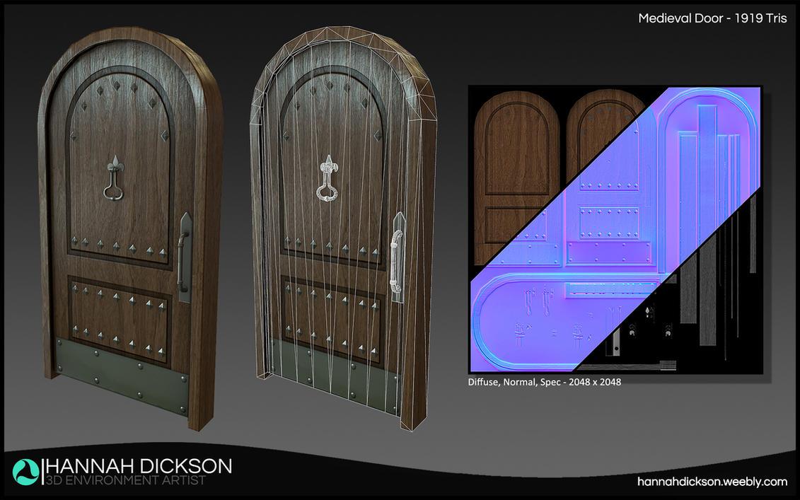 Medieval Door by HannahDickson3D ... & Medieval Door by HannahDickson3D on DeviantArt
