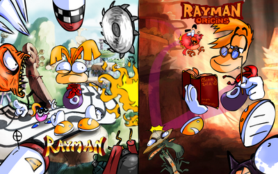 rayman 1 versus origins by miguy99