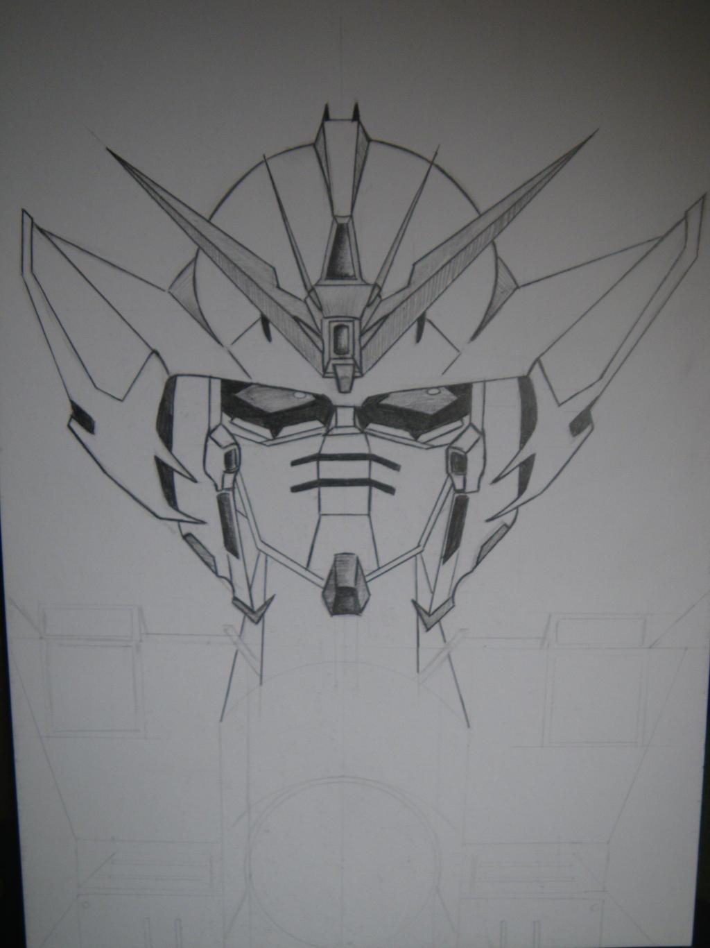 Gundam wing Zero head (unfinished) by Arsiekdhol on DeviantArt