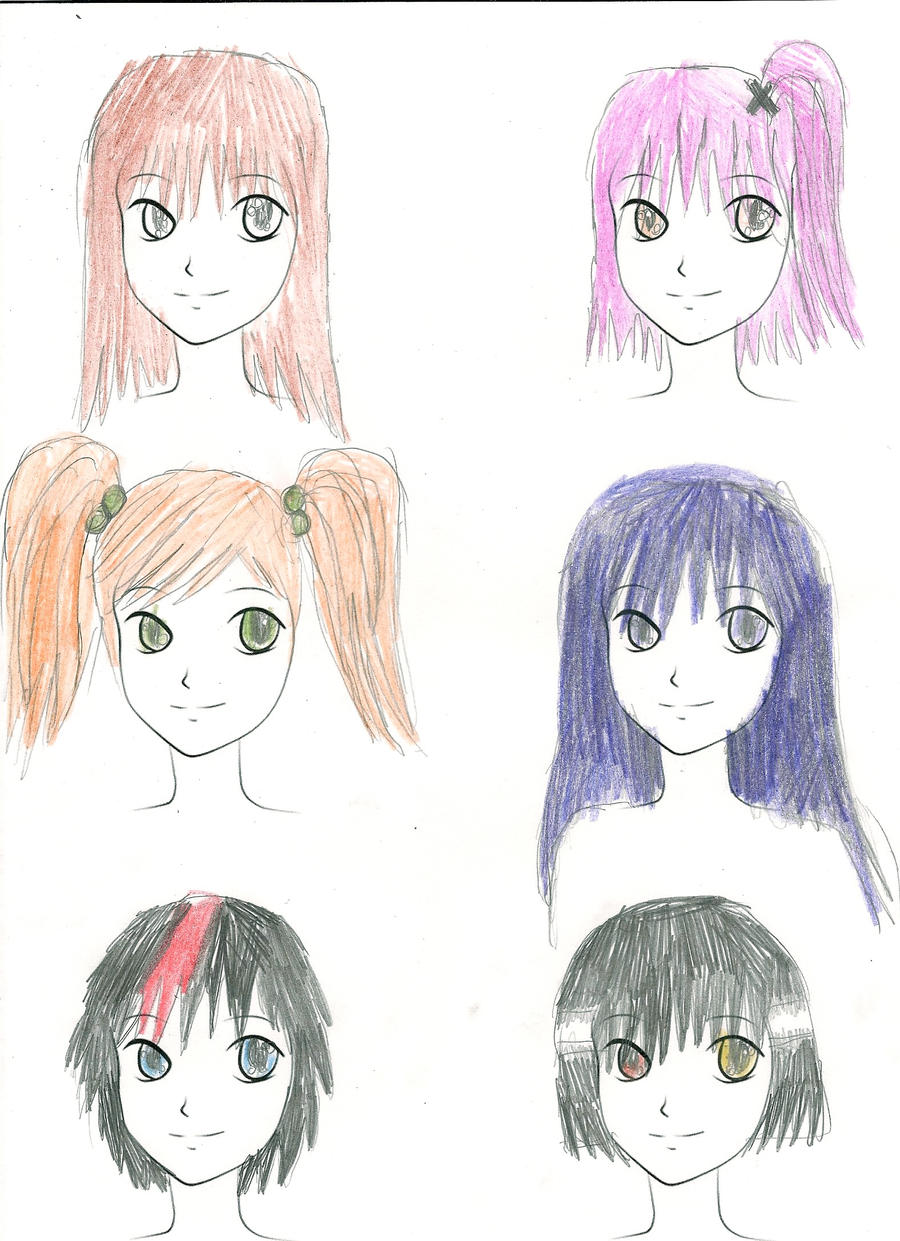 The gallery for --> Anime Bases With Hair