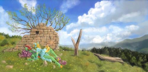 Kaos + Sky by Pony-Straponi