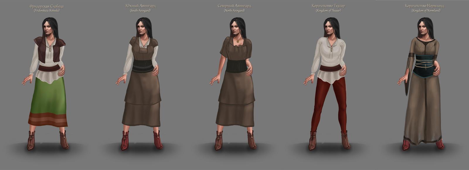 Dress of the Tiarit Citizen by Igor-Esaulov