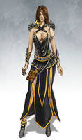 Female elf wizard of Fion Necromantic Guild
