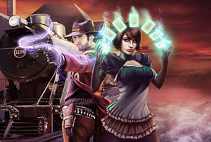 Cover for Deadlands Reloaded: Aces and Sixes by Igor-Esaulov