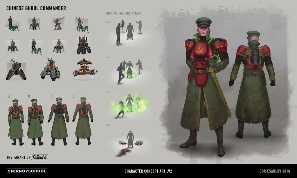 Chinese ghoul commander Concept