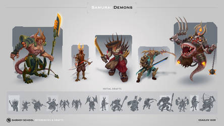 Demons Cyborg Samurai