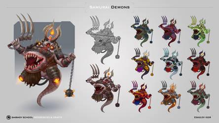 Fatty samurai demon