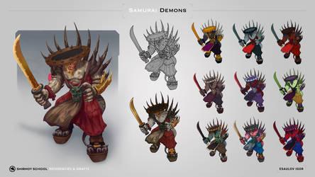 Monk Samurai Demon