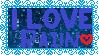 I Love Rain Stamp by sayakaclaire