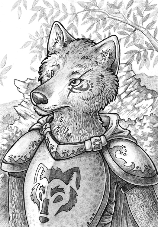 Wolf Knight by jrtracey