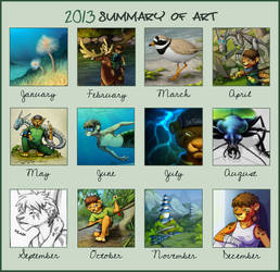 2013 Summary of Art by jrtracey