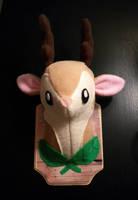 mounted deer plush by aprikotclothing